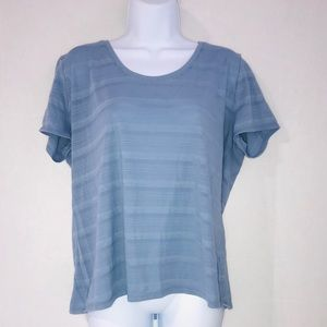 Cato Striped Tee Blue Large